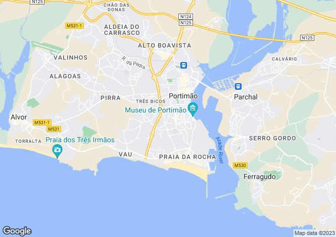 Map for Algarve, Portimão