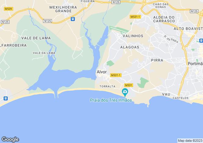 Map for Alvor, Portimão, Faro
