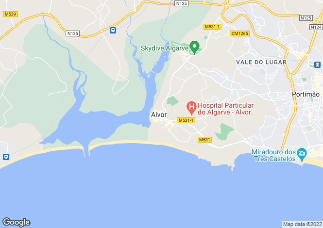 Map for Alvor, Portimão, Faro
