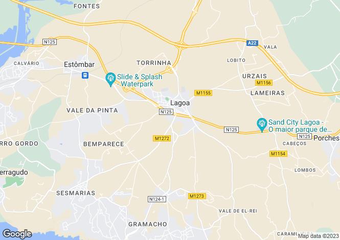 Map for Algarve, Lagoa