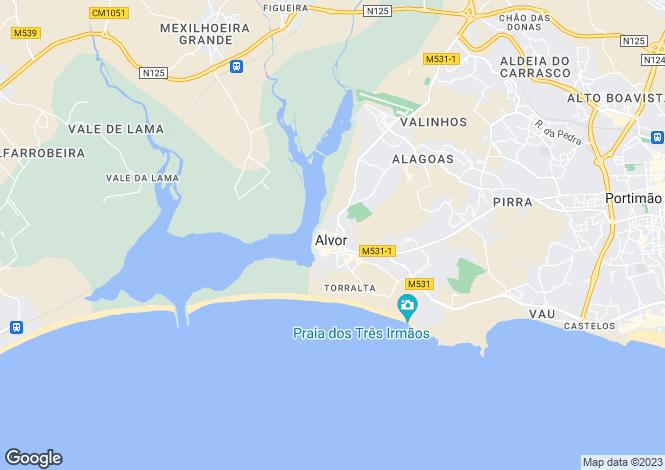Map for Mexilhoeira Grande, Portimão, Faro