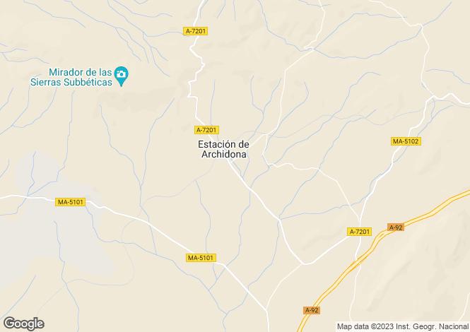 Map for Andalusia, Malaga, Archidona