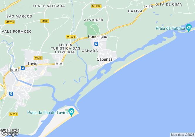 Map for Conceicao E Cabanas De Tavira, Algarve