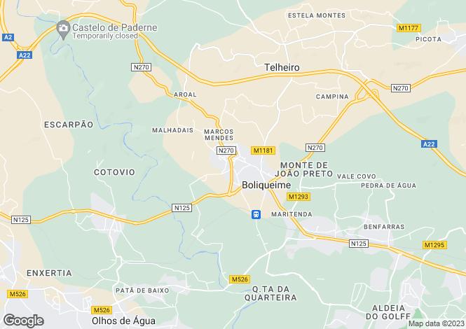 Map for Boliquieme, Algarve, Portugal