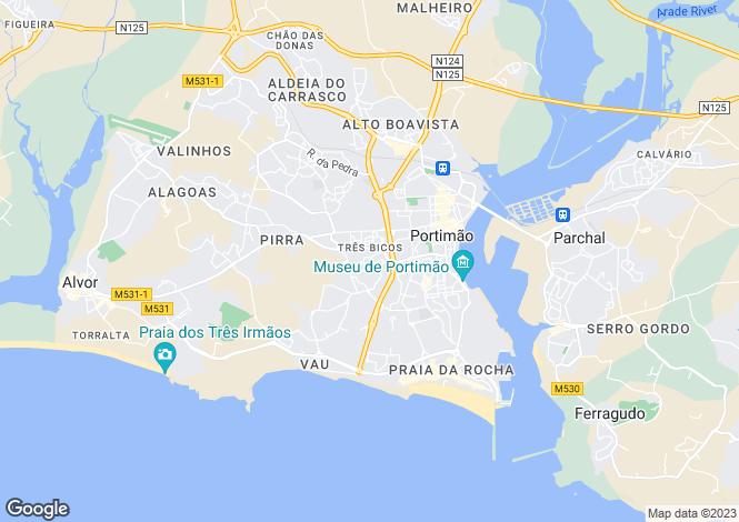 Map for Portugal - Algarve, Portimão