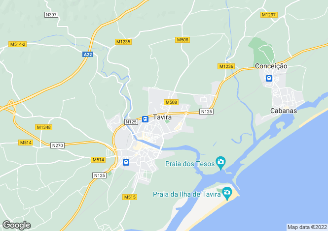 Map for Santa Catarina Fonte Bispo, Tavira, Faro