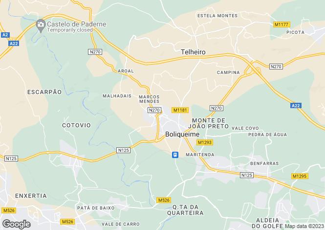 Map for Boliqueime, Loulé, Faro