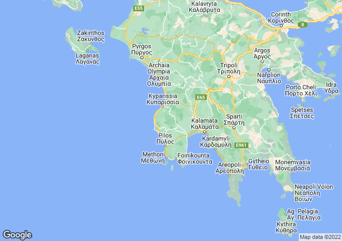 Map for Peloponnese, Messinia, Messini