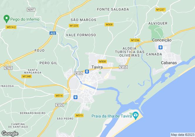 Map for Santa Catarina Da Fonte Do Bispo, Tavira, Faro