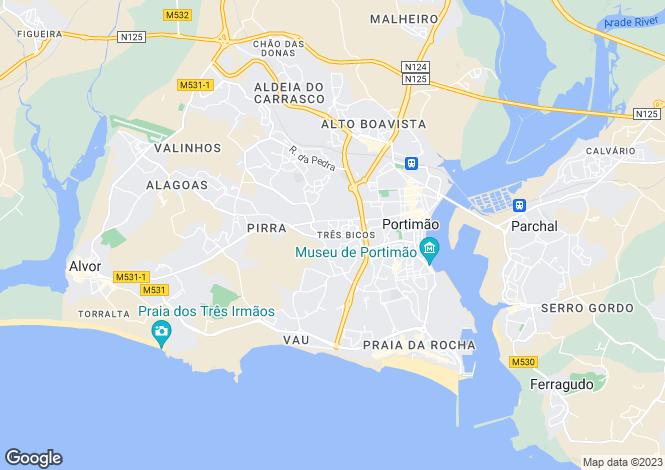 Map for Portimão, Algarve