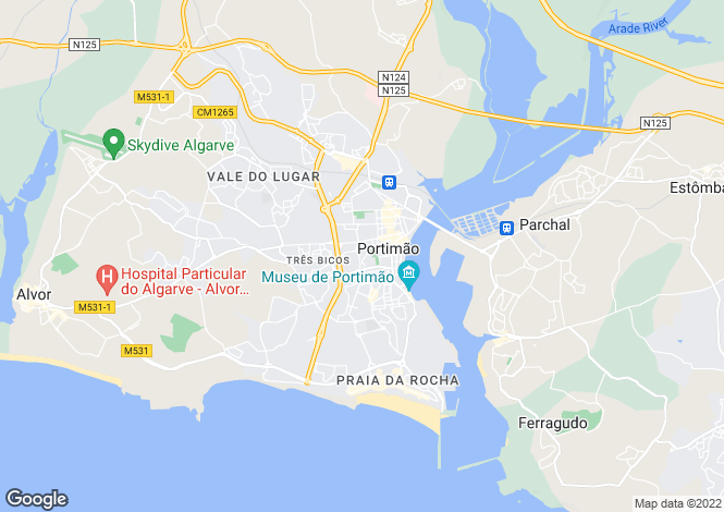 Map for Portugal,Algarve,Portimão