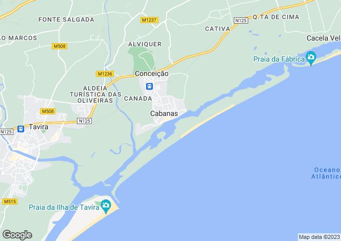 Map for Cabanas, Algarve