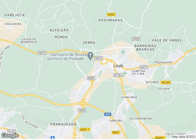 Map for Loulé, Algarve