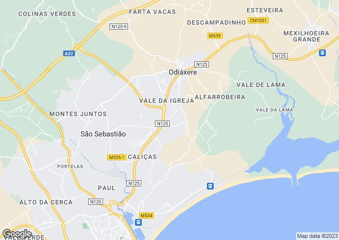 Map for Odiáxere, Algarve