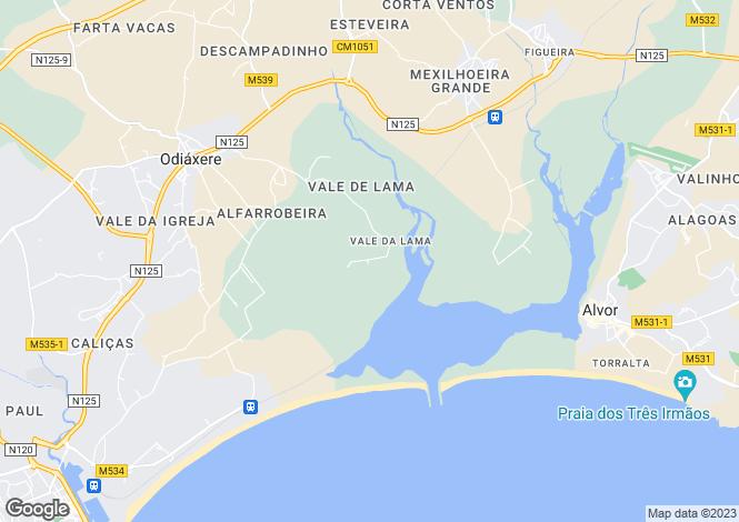 Map for Algarve, Vale Da Lama