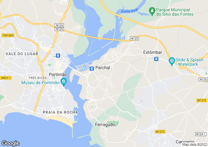Map for Parchal, Algarve