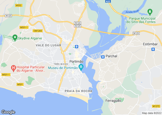 Map for Portimão Algarve