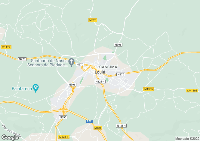 Map for Algarve, Loulé
