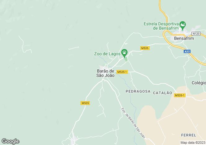 Map for Barão de São João, Algarve
