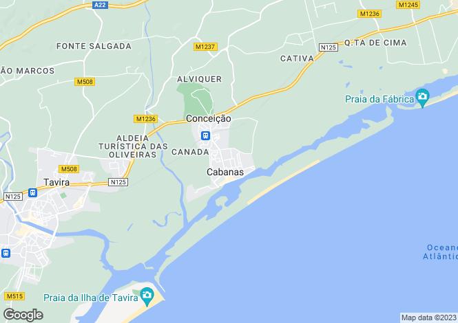 Map for Algarve, Cabanas