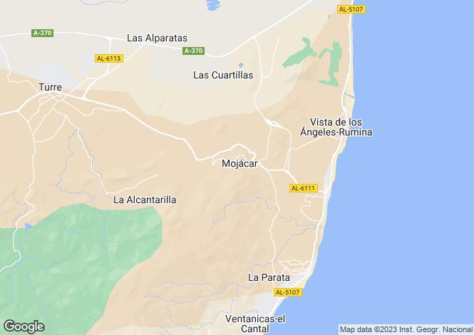 Map for Mojacar Pueblo, Spain
