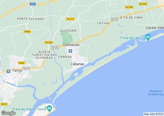 Map for Cabanas De Tavira, Algarve
