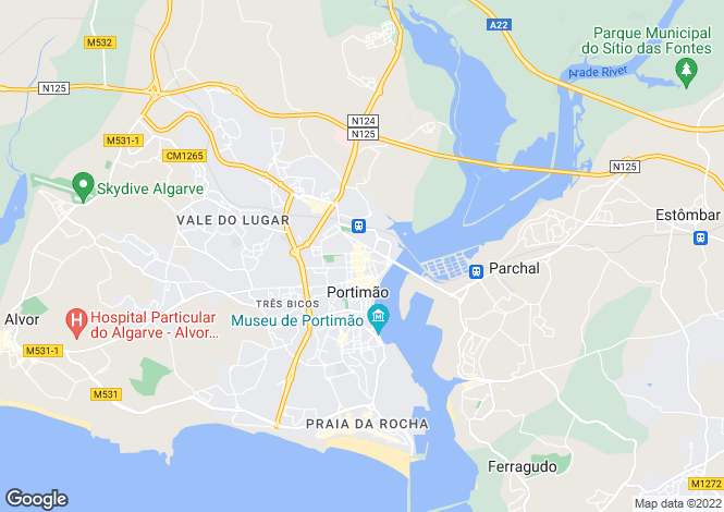 Map for Portimão, Portimão, Faro