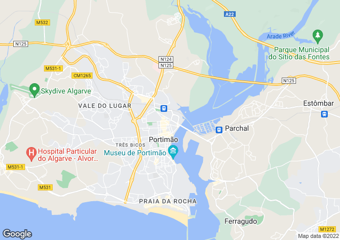 Map for Portugal - Algarve, Portimão