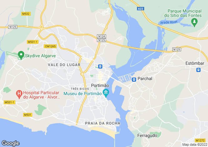 Map for Portimao, Algarve, Portugal