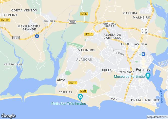 Map for Portugal,Algarve,Alvor
