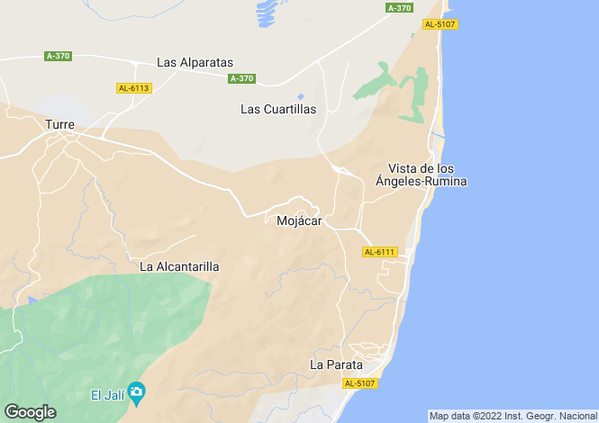 Map for Spain - Andalucia, Almería, Mojácar