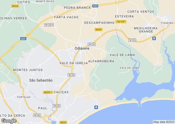 Map for Algarve, Odiáxere