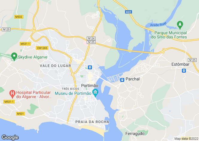 Map for Algarve, Portimão