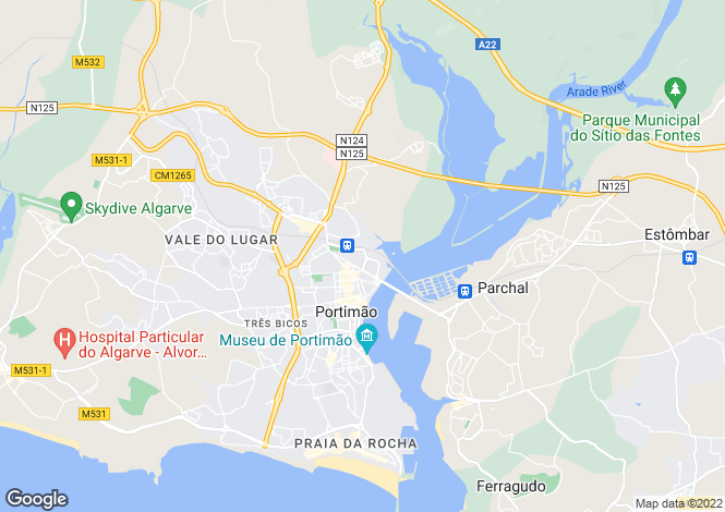 Map for Portimão, Algarve