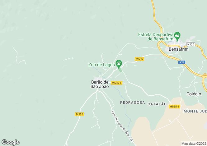 Map for Algarve, Barão de São João