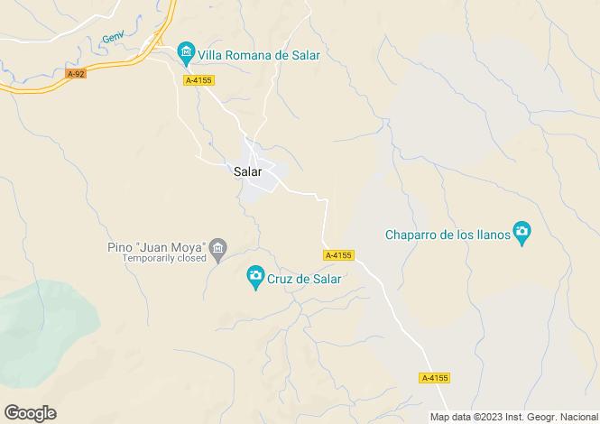 Map for Salar, Granada, Andalusia