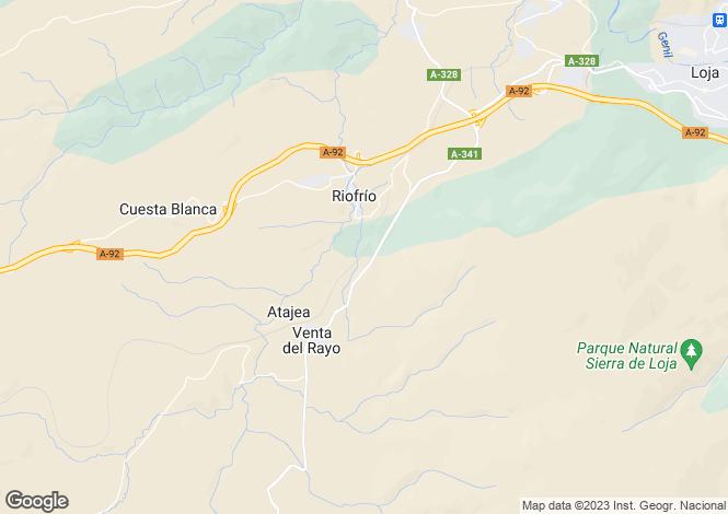 Map for Riofrio, Granada, Spain