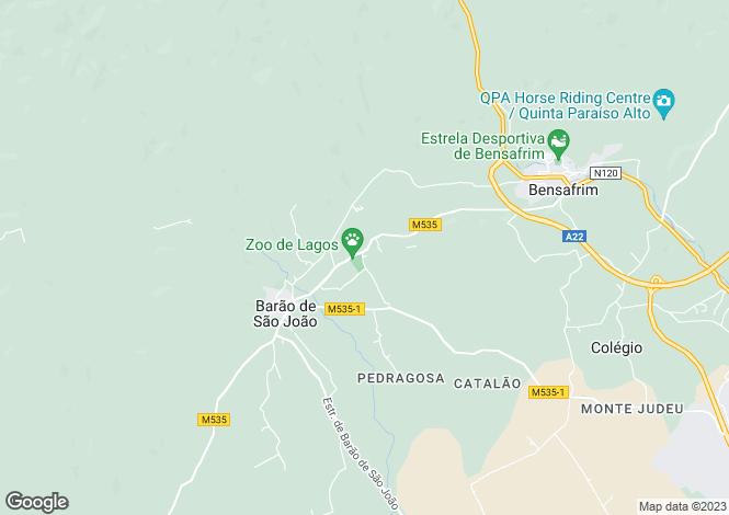 Map for Portugal - Algarve, Barão de São João