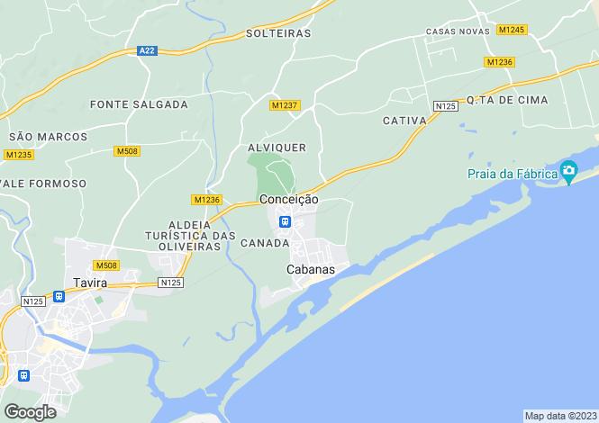 Map for Conceição, Algarve