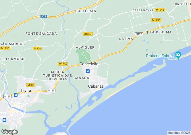 Map for Algarve, Conceição