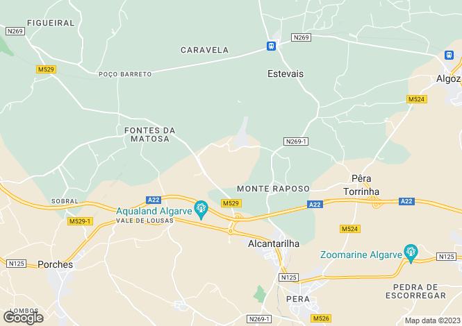 Map for Alcantarilha, Algarve, Portugal, 8365-302