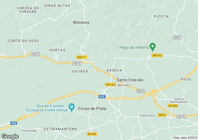 Map for Santo Estêvão, Algarve