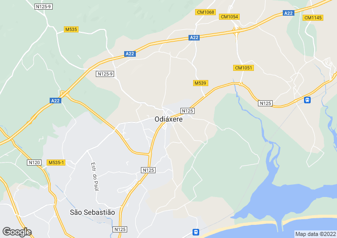 Map for Odiáxere, Lagos, Faro