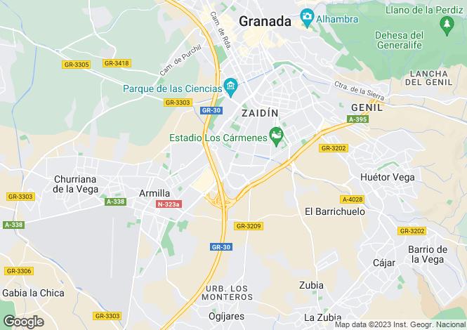 Map for Granada, Granada, Andalusia