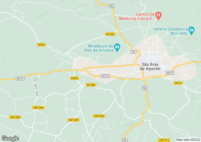 Map for Algarve, São Brás de Alportel