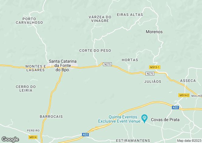 Map for Santa Catarina da Fonte do Bispo, Algarve