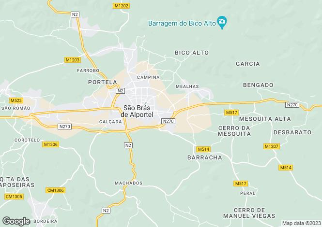 Map for Portugal,Algarve,São Brás de Alportel