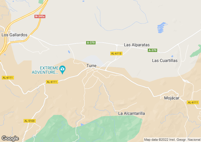 Map for Andalucia, Almería, Turre