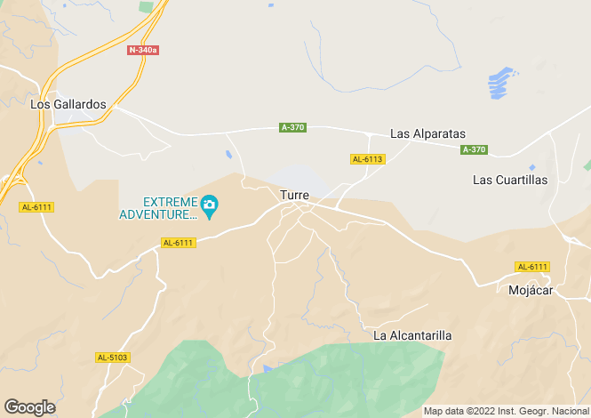 Map for Turre, Almería, Andalusia