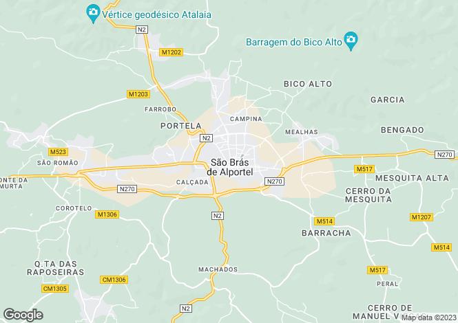 Map for São Brás de Alportel, São Brás de Alportel, Faro